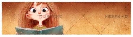 Cara de nina con libro20