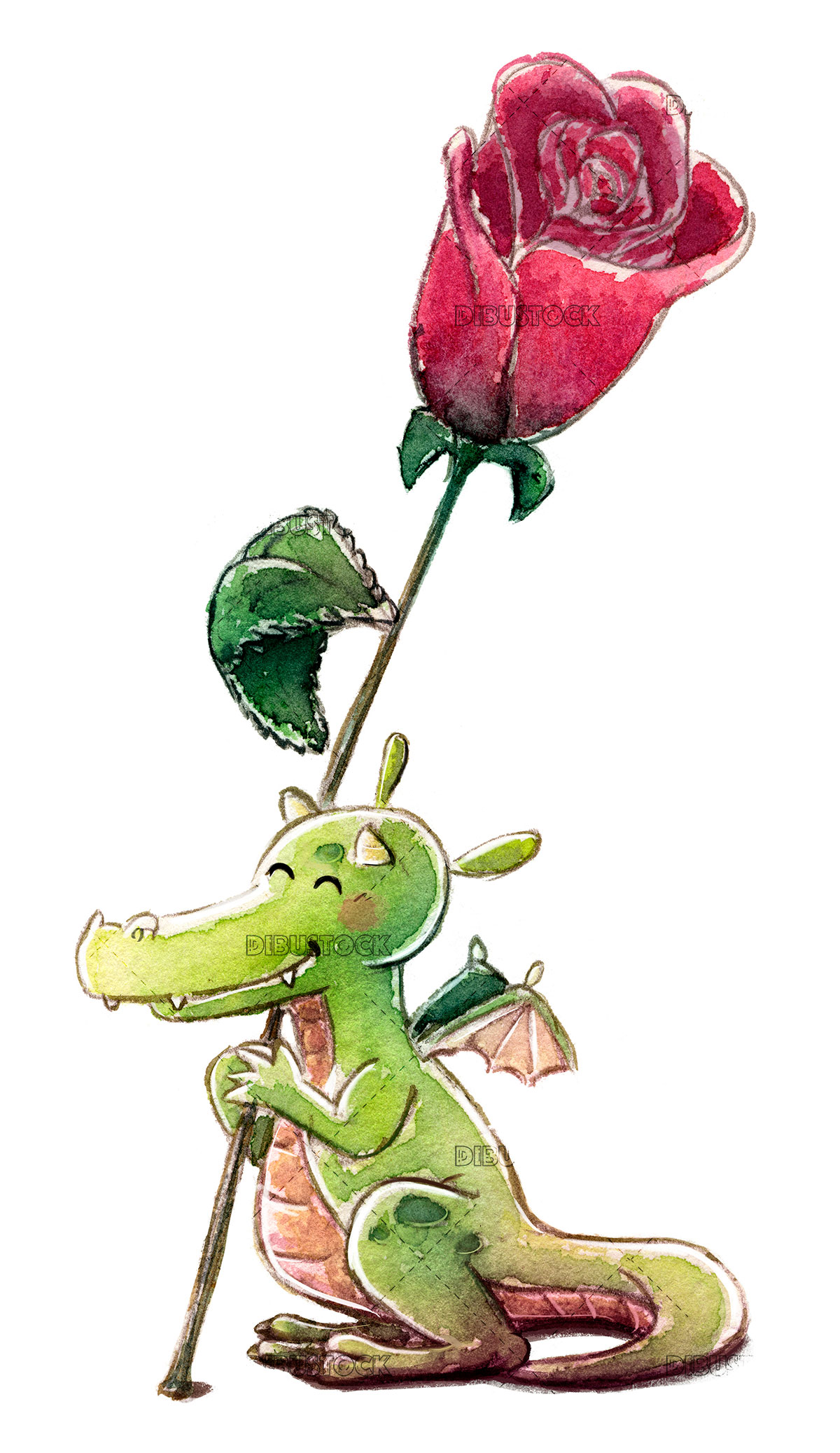 Dragon with rose in Saint George