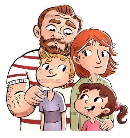 Familia de padres con sus hijos20