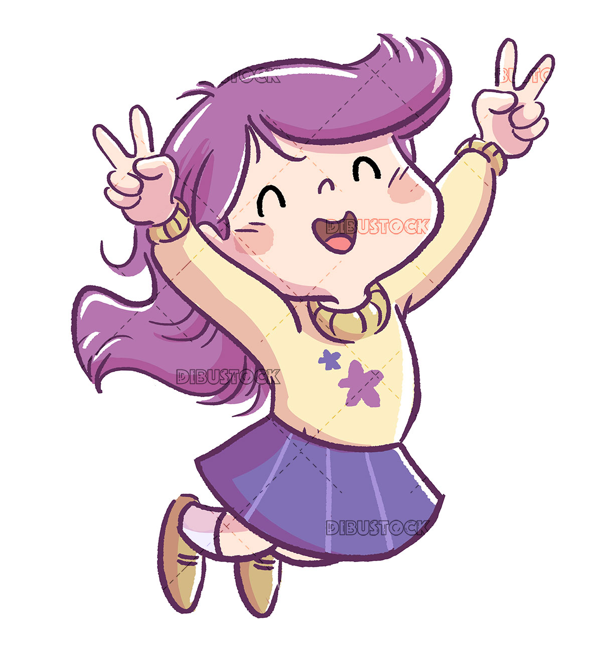 Girl jumping celebrating a victory