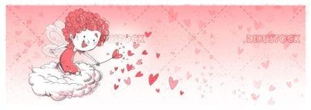 Happy valentine hearts fairy