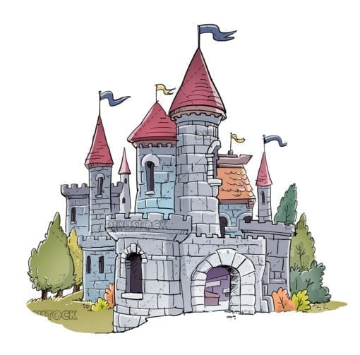 Illustration of fantastic medieval castle