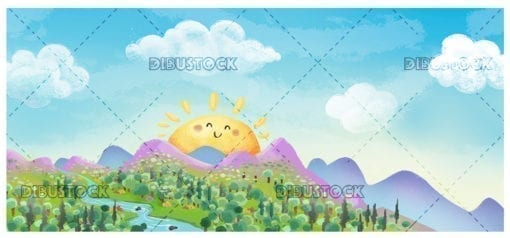 Paisaje de naturaleza soleado20