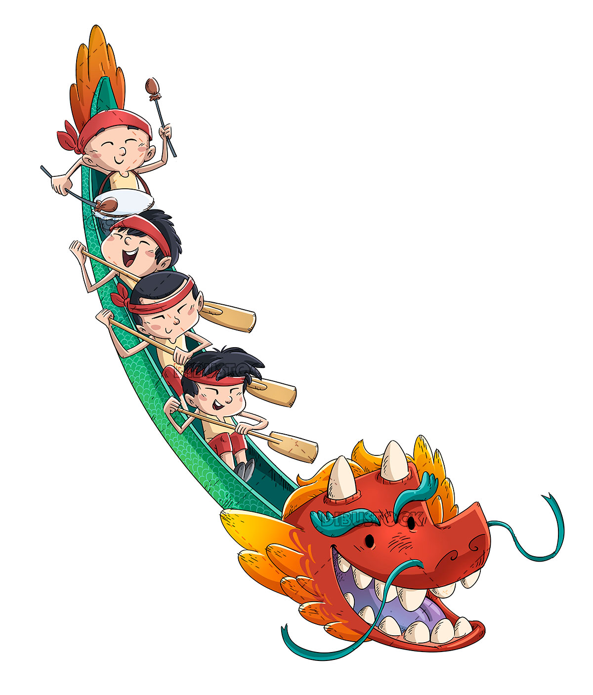 Traditional Chinese Childrens Dragon Boat