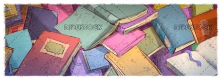 books of different colors