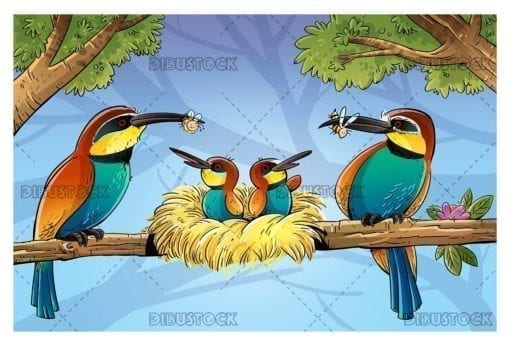 Bee eater bird family