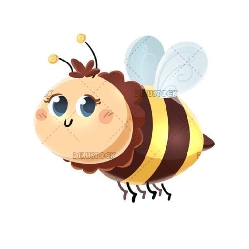 Funny bee flying