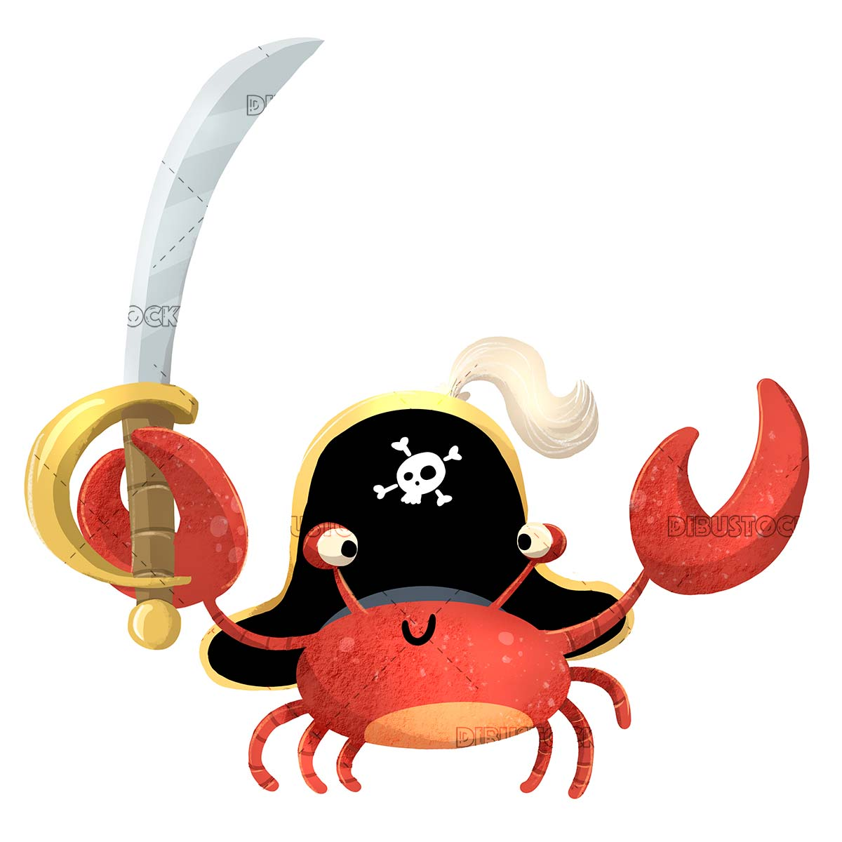 Pirate crab with sword