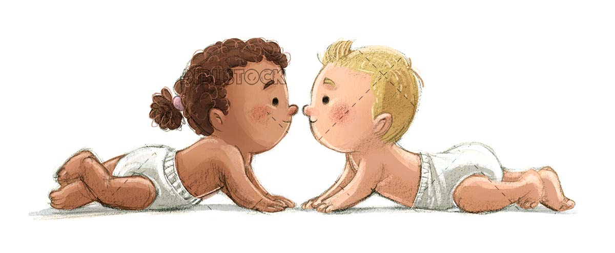 Babies of different races