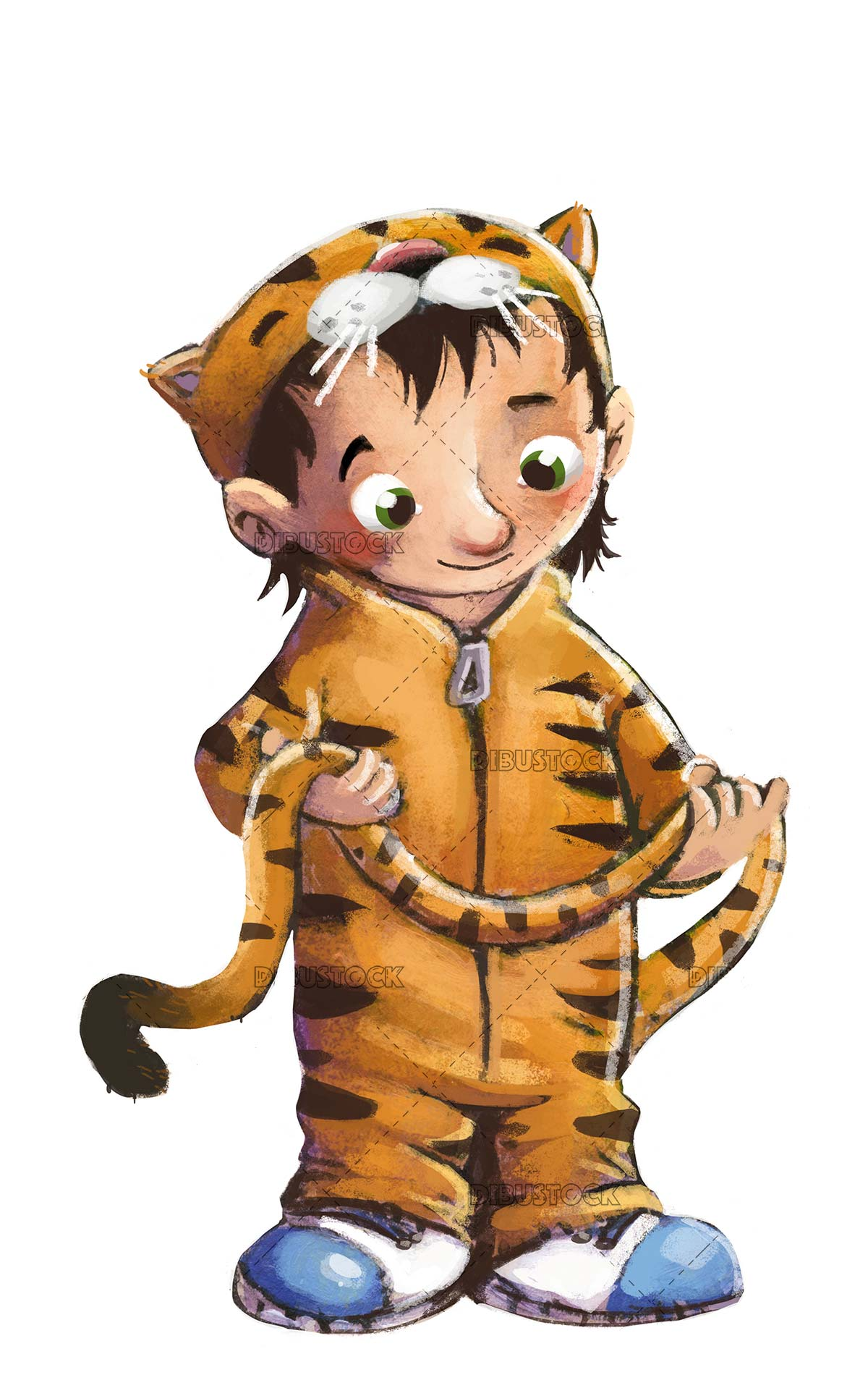 Boy in tiger costume