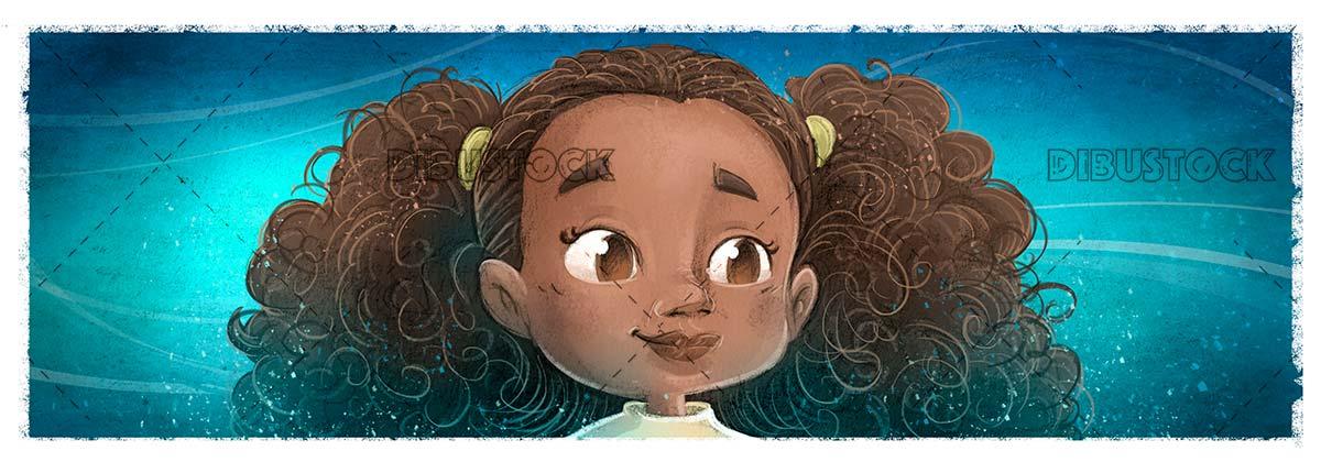 African american little girl face