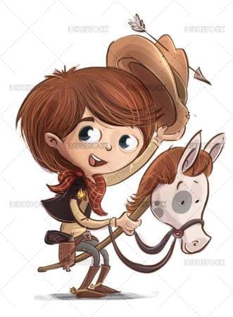 Boy in cowboy costume
