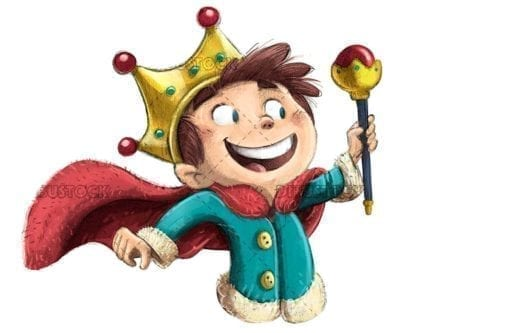 Boy king with scepter