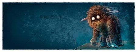 Brown hairy monster