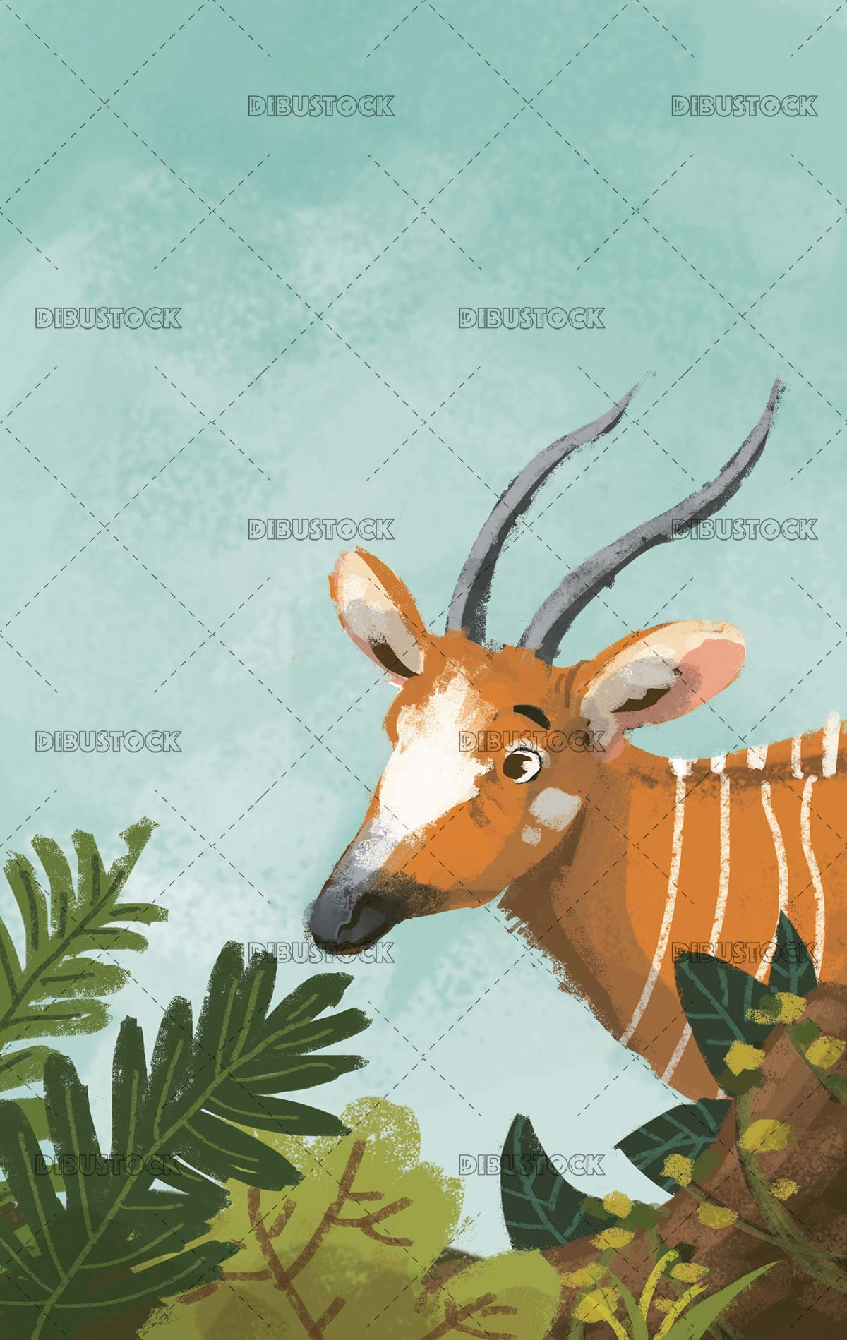 African deer among the undergrowth