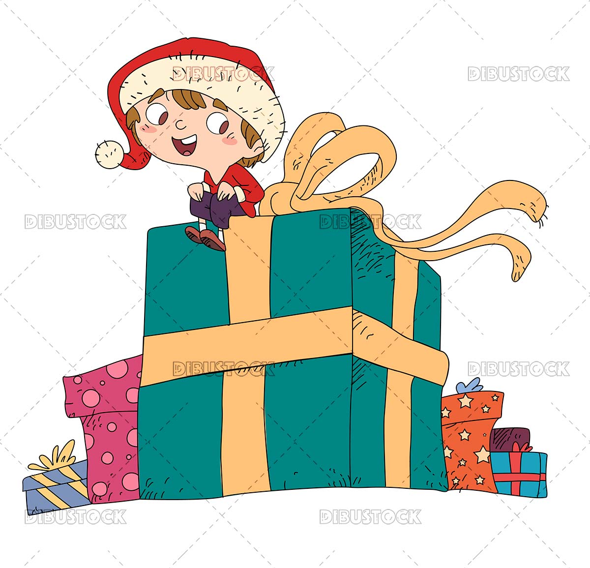 Child with giant gift