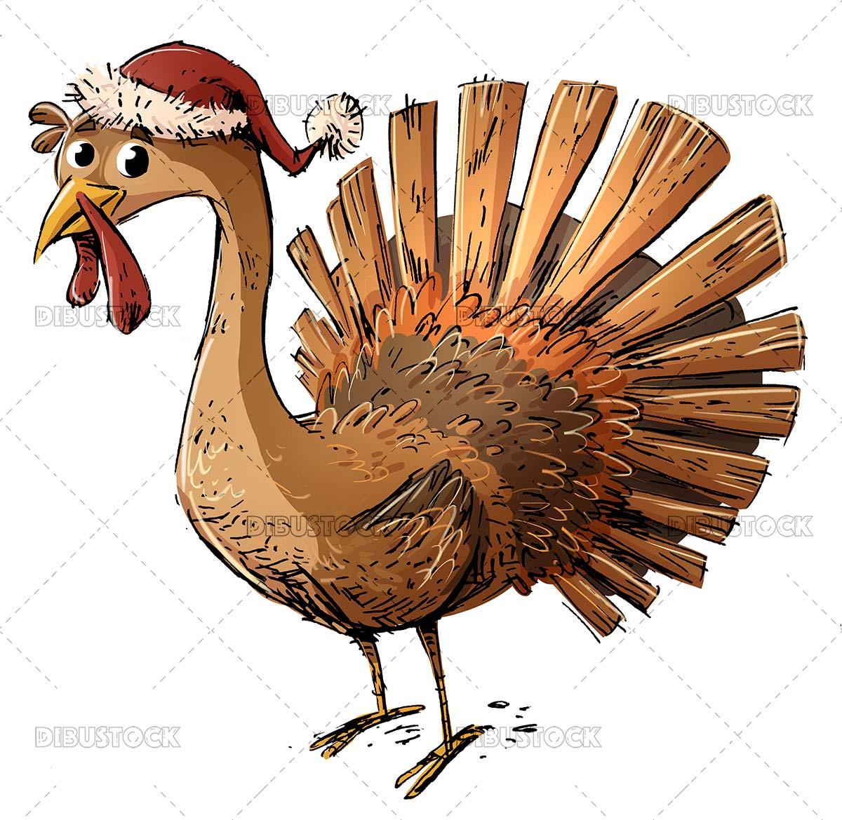 Funny christmas turkey