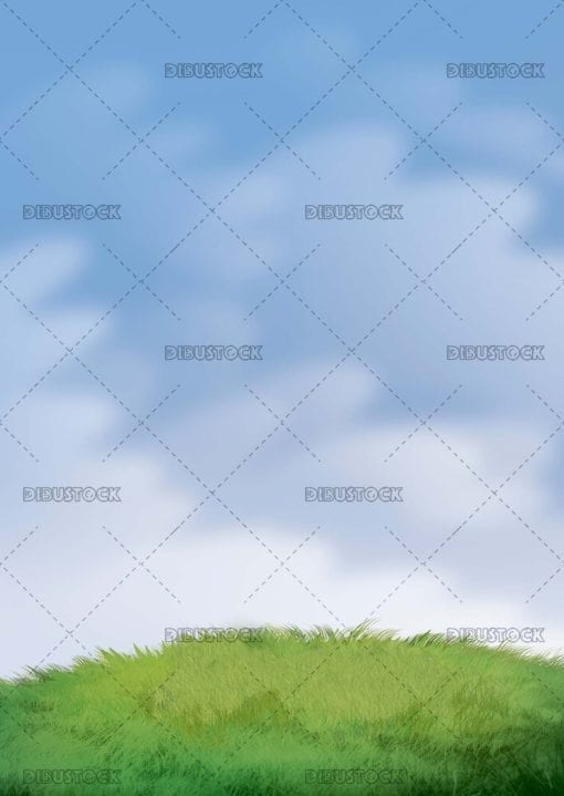 Sky and meadow background