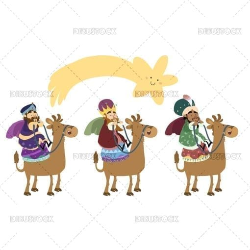 Three20magical20kings20on20their20camels20with20the20christmas20stars