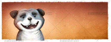 Gray dog face