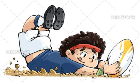 Child rugby player