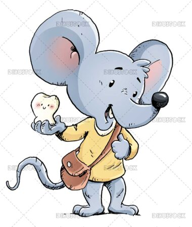 Mouse with tooth in the hand