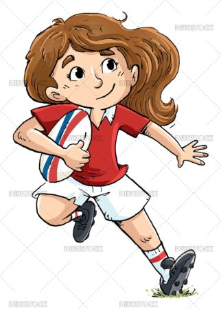 Rugby player child girl