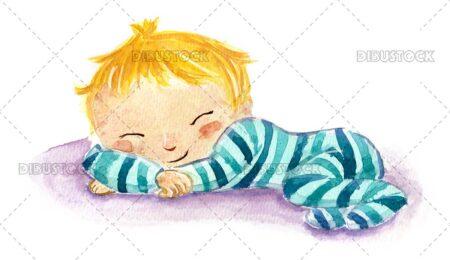 Baby with pajamas sleeping
