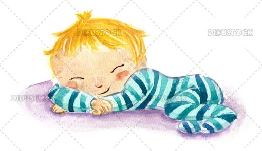 Baby with pajamas sleeping