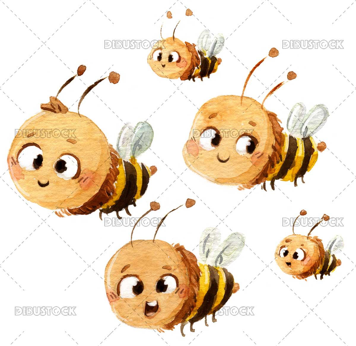 Group of bees flying