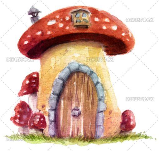 House shaped mushroom