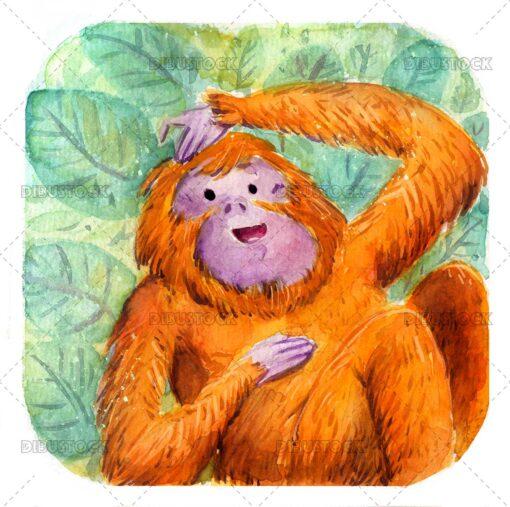 Orangutan in the jungle