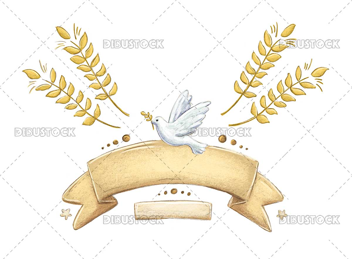 illustrations of religious decorative elements for first communion