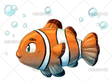 Illustration of clown fish