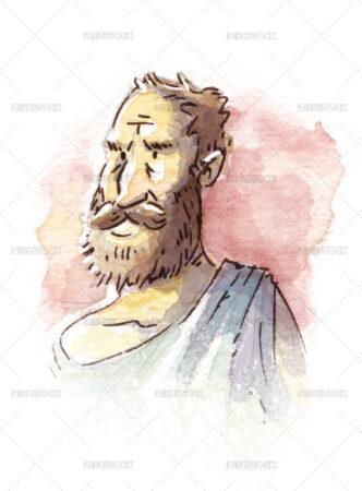 Greek philosopher illustration
