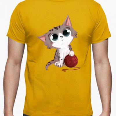 camiseta gato con ovillo de lana i 135623168579901356232017092614