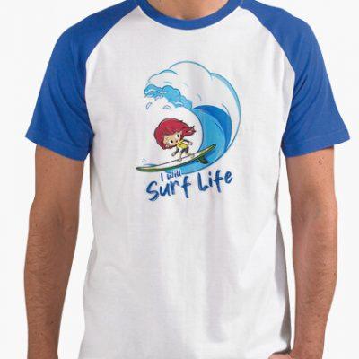 camiseta i will surf life i 1356232365646013562321242