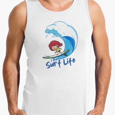 camiseta i will surf life i 135623236564701356232
