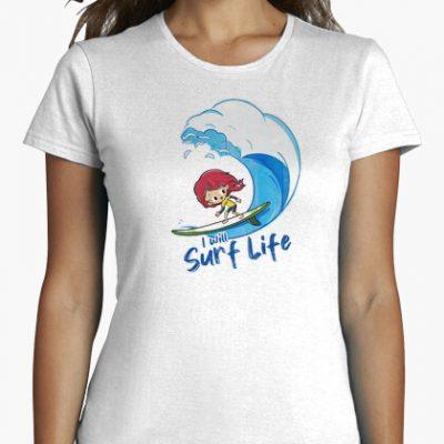 camiseta i will surf life i 1356232365648013562397