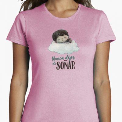 camiseta mujer manga corta rosa calidad premium i 1356233037447013562395